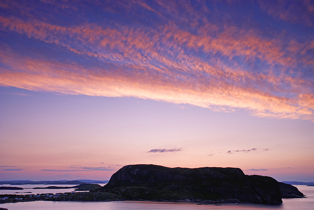View Of Islands At Twilight, Salvage, Newfoundland, Canada