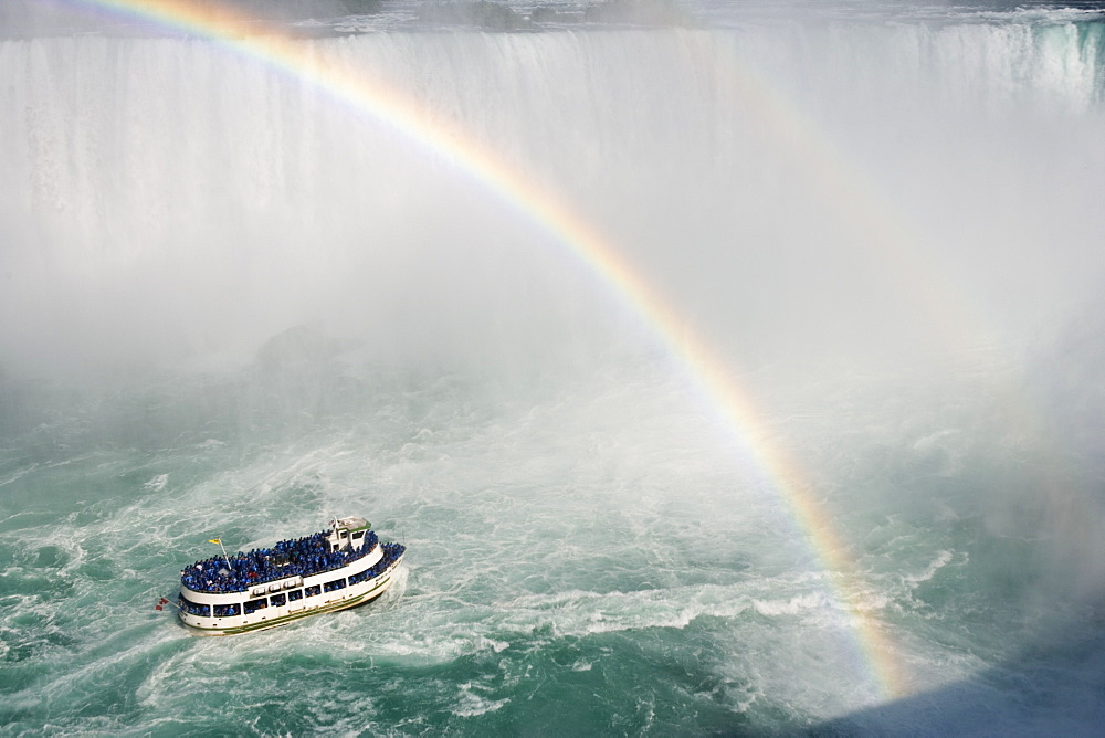 Horseshoe Falls And The Maid Of The Mist - Niagara Falls, Ontario, Canada