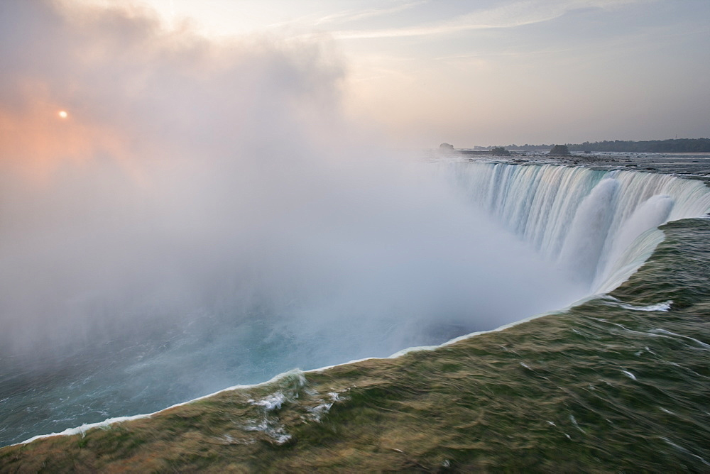 Sunrise And Horseshoe Falls - Niagara Falls Ontario Canada