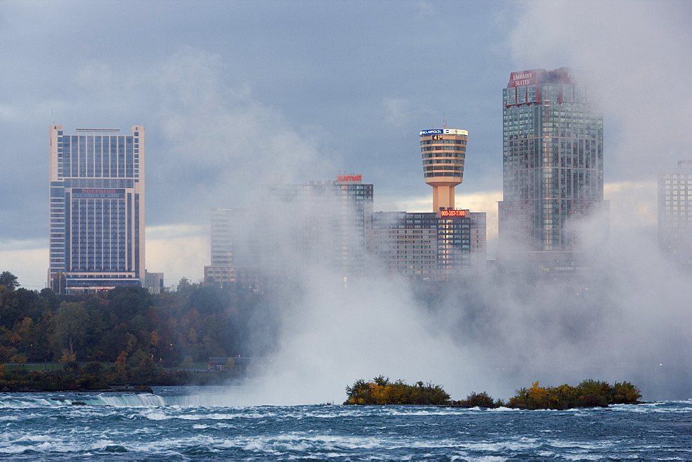 Niagara Falls, Ontario, Canada As Viewed Across The Top Of Horseshoe Falls