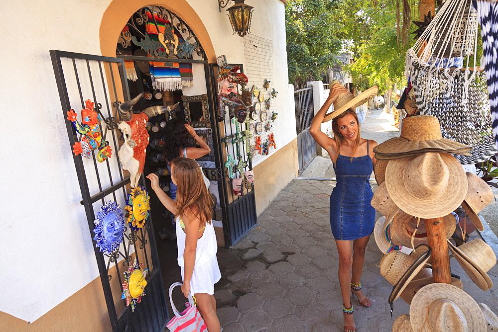Women Shopping Downtown, Todos Santos, Baja California, Mexico - 1116-41617
