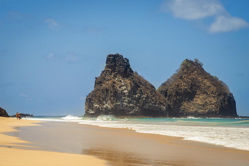 View Of Morro Dos Irmaos From Praia Do Bode, Fernando De Noronha Pernambuco Brazil
