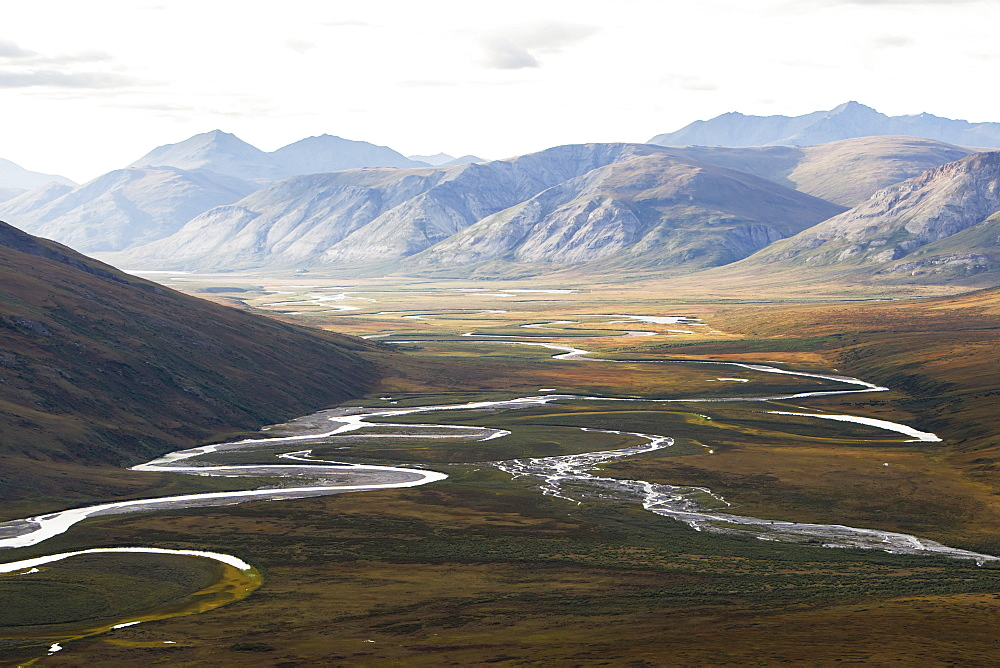 Noatak River And The Brooks Range, Gates Of The Arctic National Park, Northwestern Alaska, Alaska, United States Of America