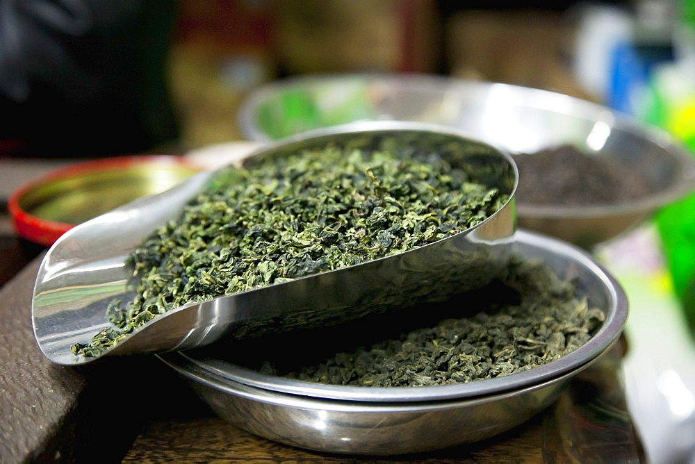 Loose leaf tea at chinese tea shop, China