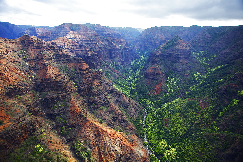 Rugged mountains and valley, Hawaii united states of america
