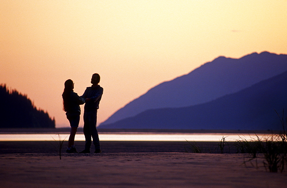 Couple @ Sunset Turnagain Arm Sc Ak