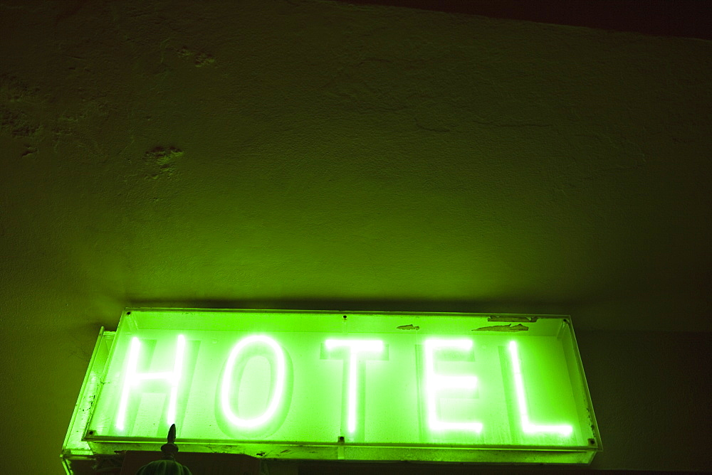 Hotel Sign, Tarifa, Cadiz, Andalusia, Spain