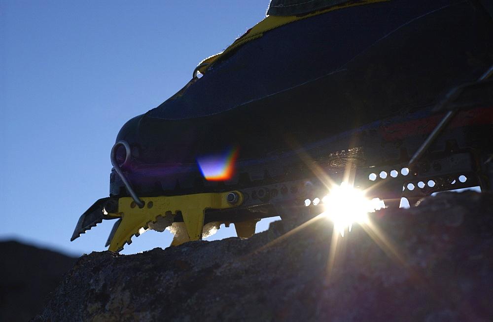 Mountain Climbing Crampon Silhouette, Mount Cokely, Port Alberni, Bc, Canada