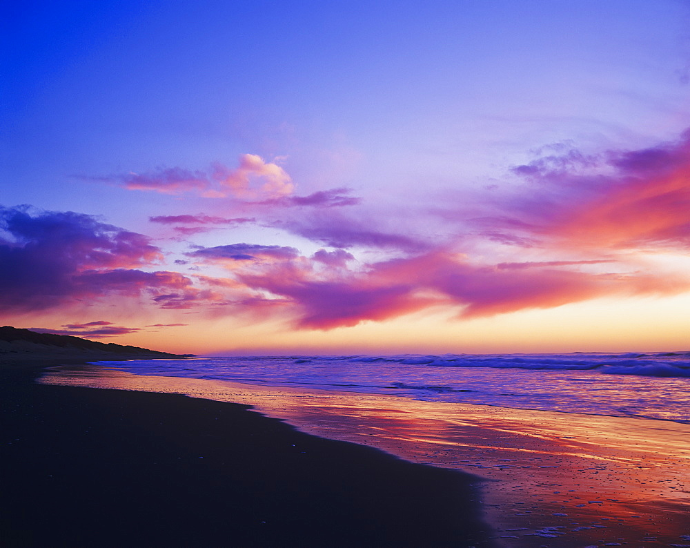 Colours Of A Sunset Colour Indian Beach, Cannon Beach, Oregon, United States Of America