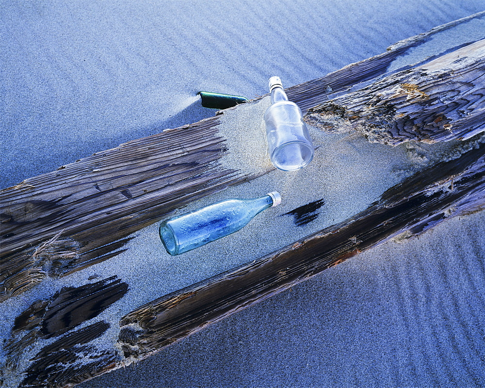 Glass Bottles Wash Ashore At Umpqua Beach, Winchester Bay, Oregon, United States Of America