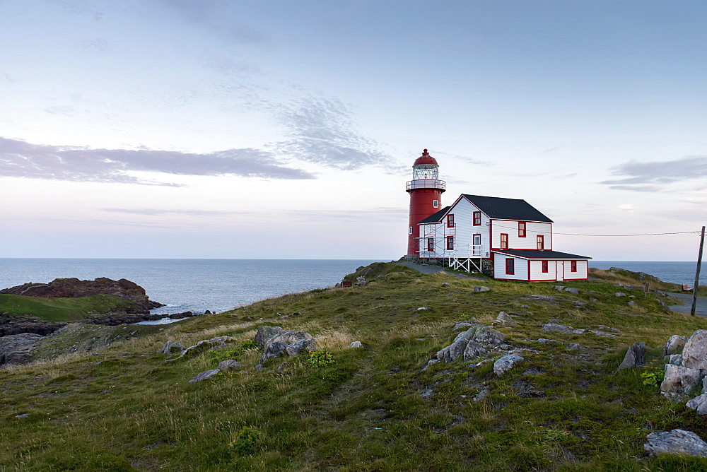 Lighthouse On The Atlantic Coast, Calvert, Newfoundland And Labrador, Canada