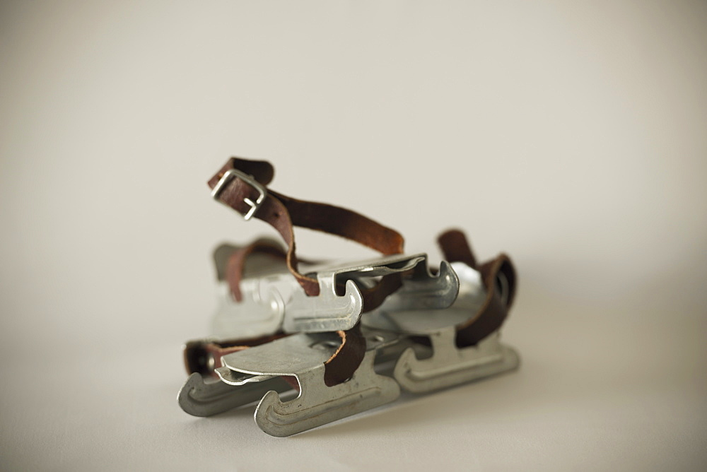 Children's Ice Skates With Leather Straps, Locarno, Ticino, Switzerland