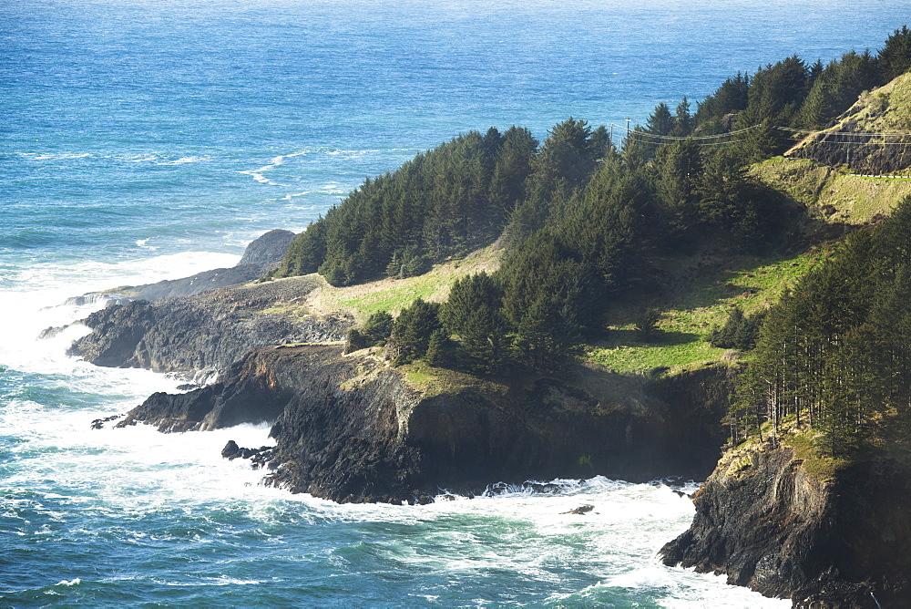 Pacific Ocean And The Oregon Coastline, Oregon, United States Of America
