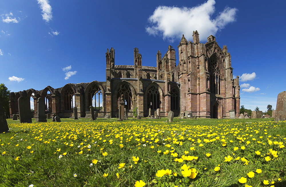 Melrose Abbey, Melrose, Scottish Borders, Scotland