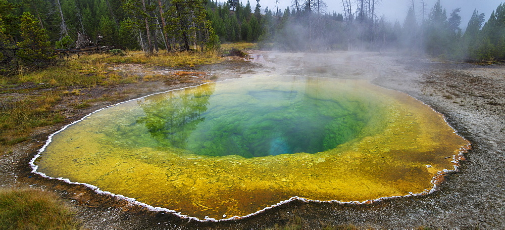 Morning Glory Pool, Upper Geyser Basin, Yellowstone National Park, Wyoming, United States Of America