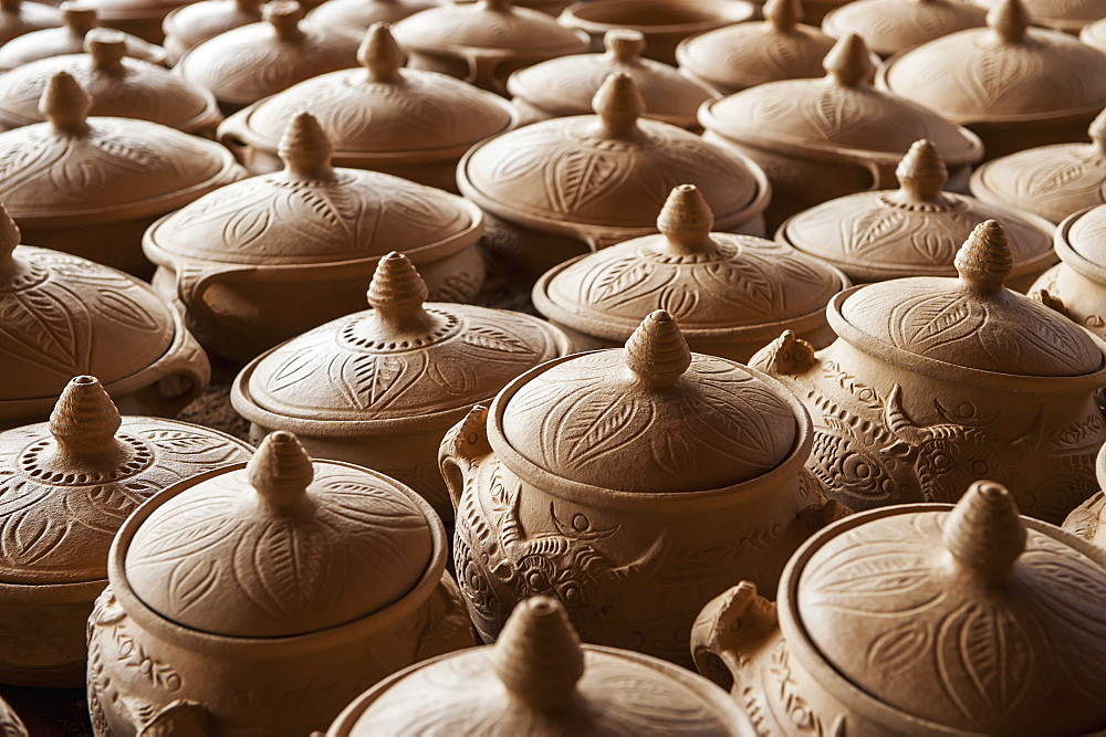 Handmade Black Pottery Before Firing, Zhongdian, Yunnan, China