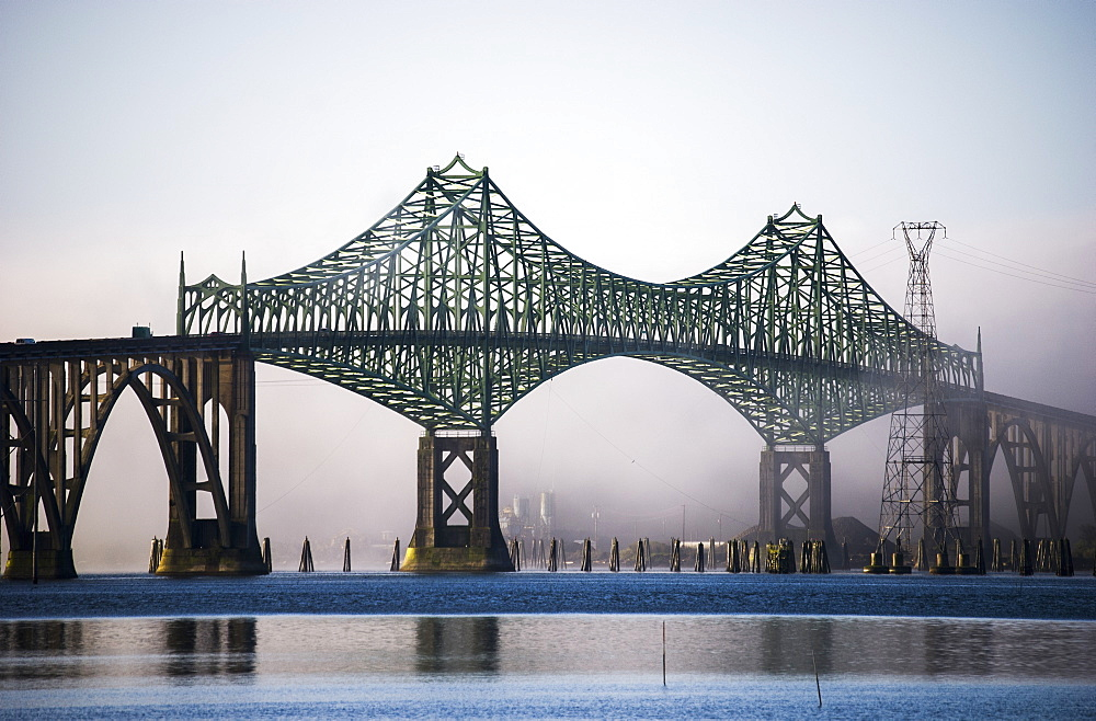 Mccullough Bridge Spans Coos Bay, North Bend, Oregon, United States Of America