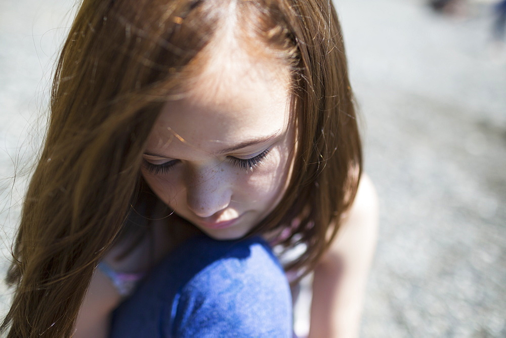 A Young Girl In Contemplation, Victoria, British Columbia, Canada