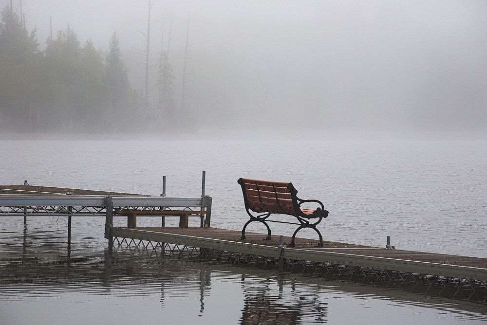 Foggy Morning At The Lake, Waterloo, Quebec, Canada