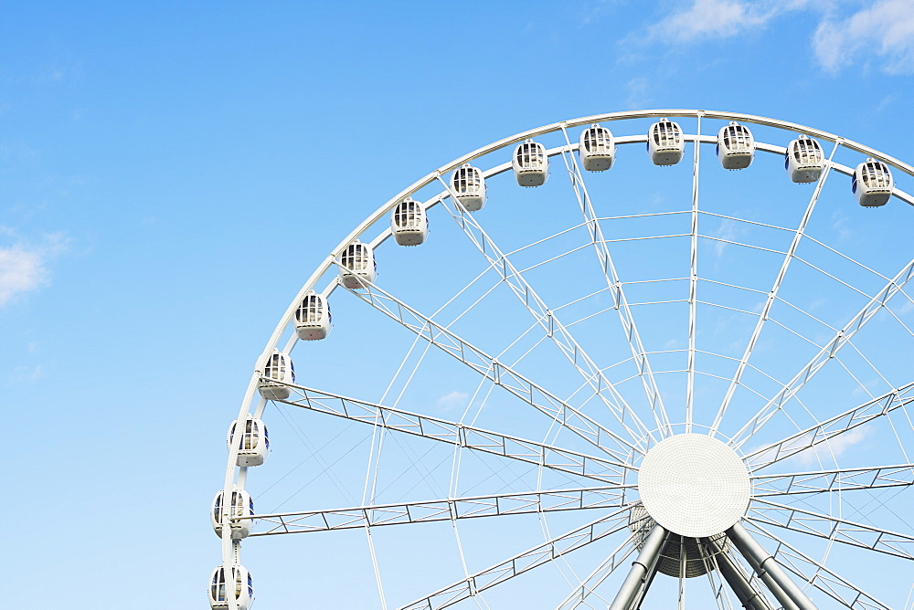 Detail Of Ferris Wheel In Divo Ostrov Amusement Park, St. Petersburg, Russia