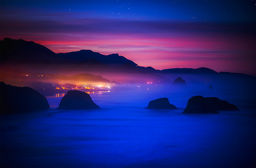 A New Day Begins On The West Coast, Cannon Beach, Oregon, United States Of America