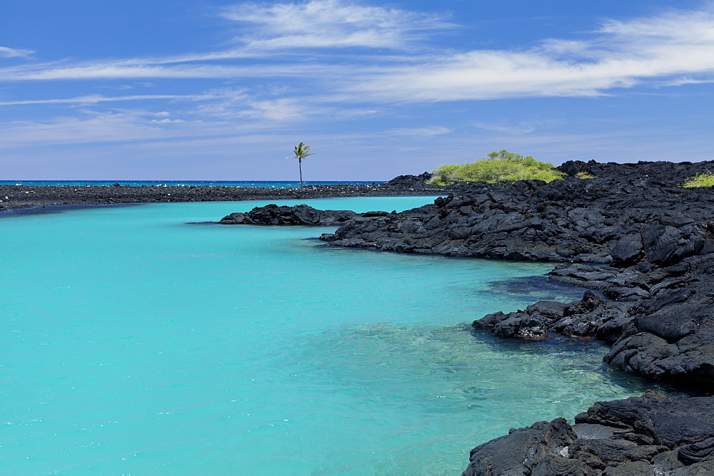 Kiholo Bay And Wainanali'i Pond, Big Island, Hawaii, United States Of America