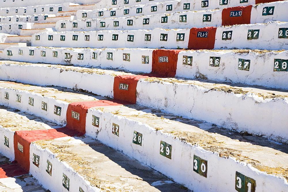 Bullring Seats, Mijas Malaga Province, Costa Del Sol, Spain, Europe