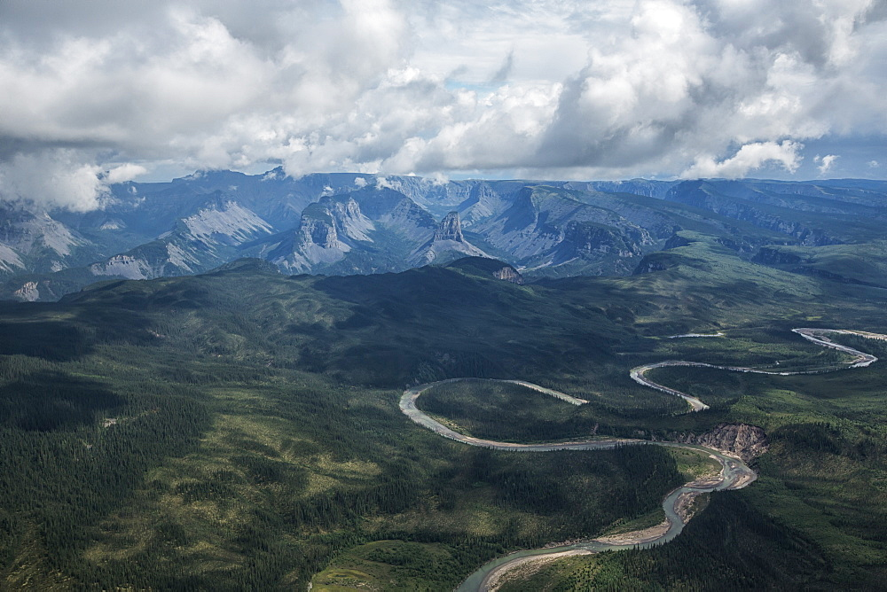 Aerial View Of The North Nahanni River, Northwest Territories, Canada