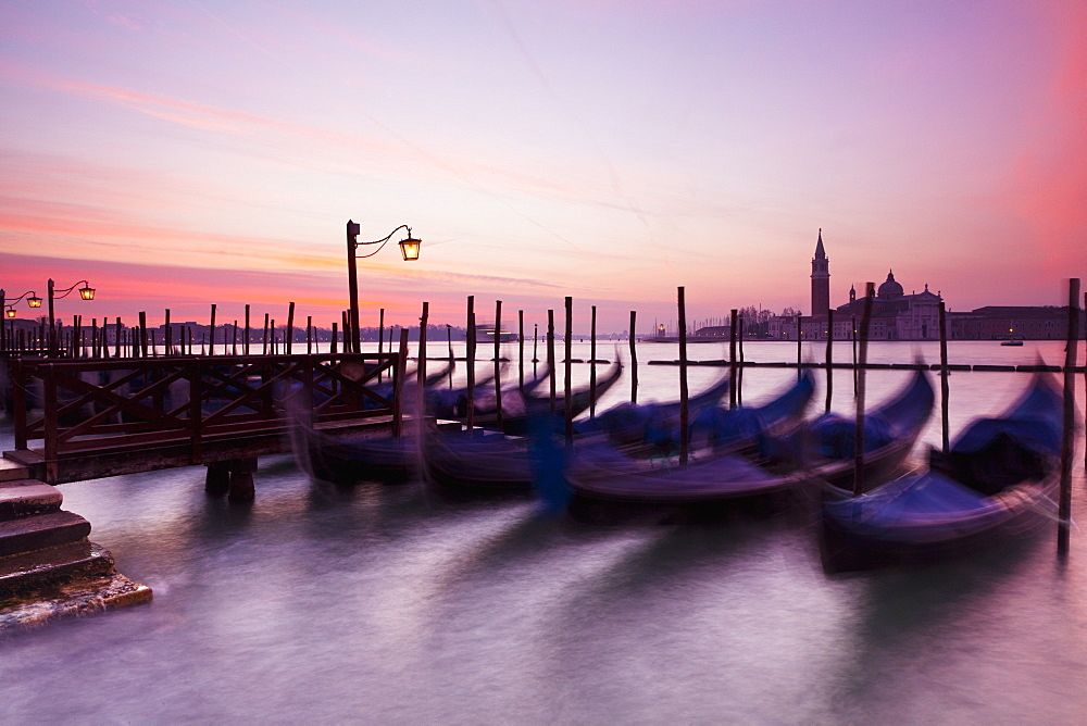 Boats Mooring At Dawn, Venice, Italy