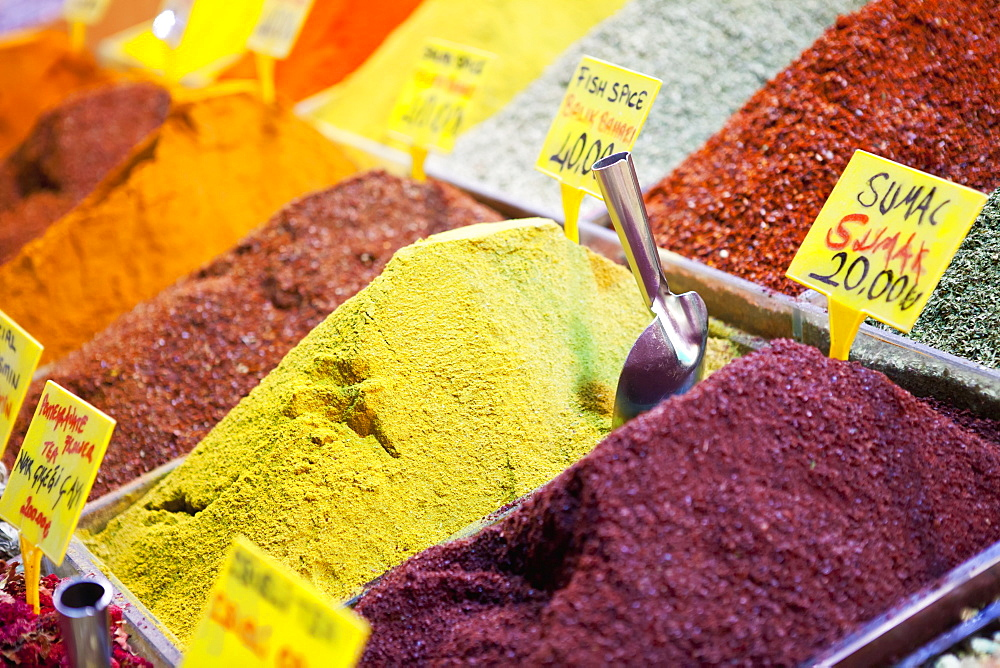 Spices For Sale In The Spice Bazaar, Istanbul, Turkey