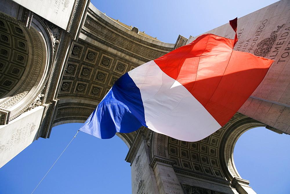 Arc De Triomphe De L'etoile, Place Charles De Gaulle, Paris, France