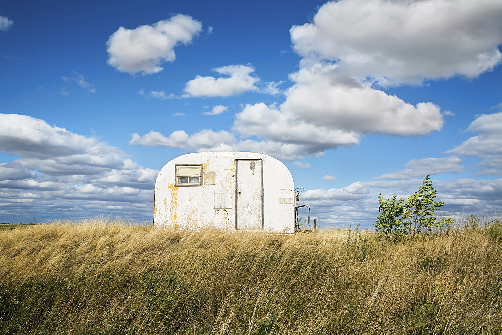 Trailer Used As Office In Field, Canada