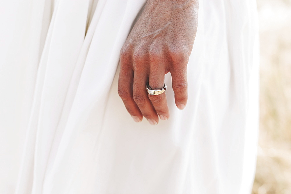 A bride's hand with a wedding ring, Kirkland washington united states of america
