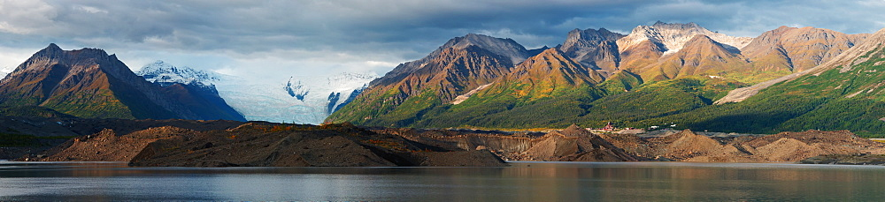 Kennicot With The Kennicot And Root Glacier, Kennicot, Alaska, United States Of America