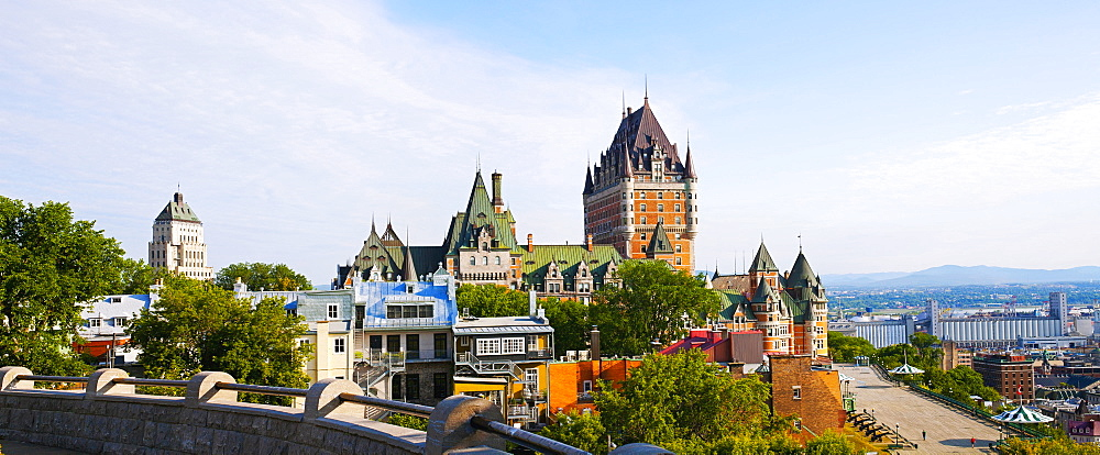 Chateau Frontenac, Dufferin Terrace And Price Building, Quebec City, Quebec, Canada