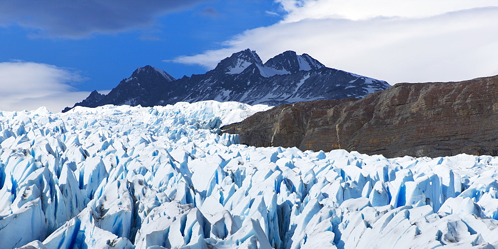 Grey Glacier, Torres Del Paine National Park, Torres Del Paine, Magallanes And Antartica Chilena Region, Chile