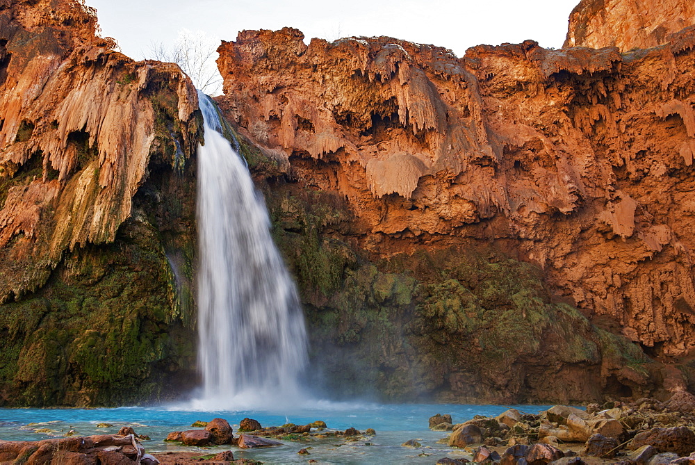 Havasu Falls, Havasupai Indian Reservation, Grand Canyon, Arizona, United States Of America