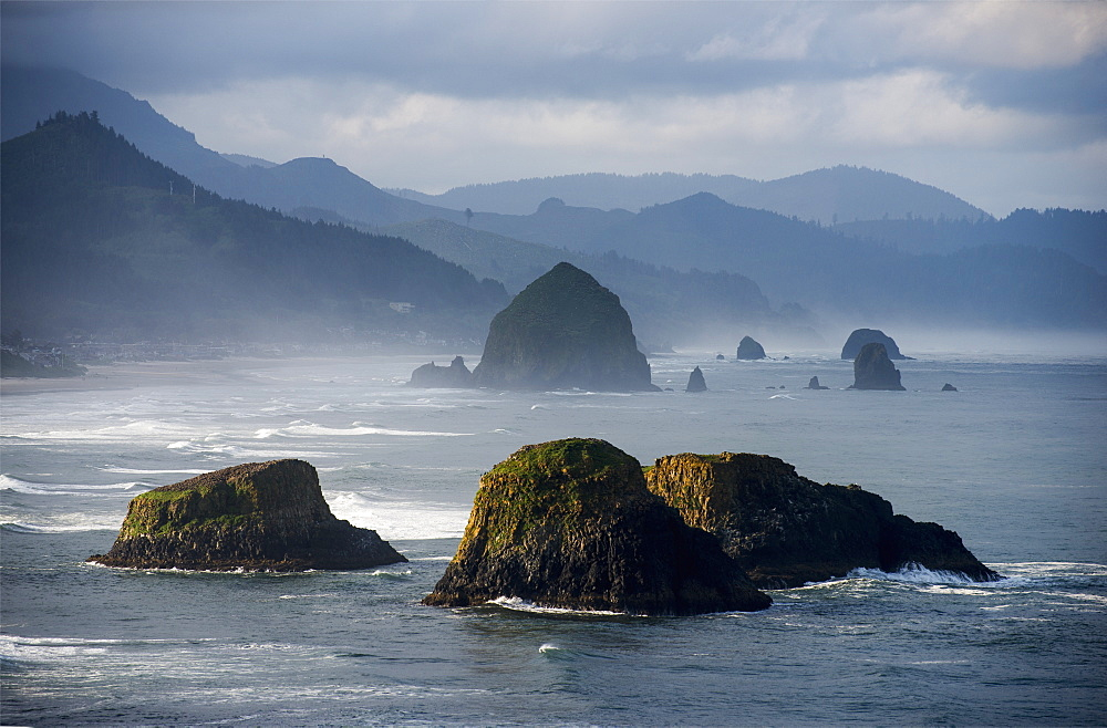 Spectacular Coastal Scenery Is Found At Ecola State Park, Cannon Beach, Oregon, United States Of America