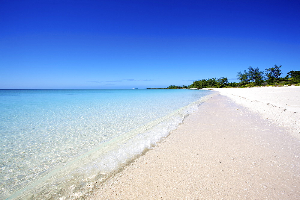 White Sand Beach Along The Coast Of Vamizi Island, Mozambique