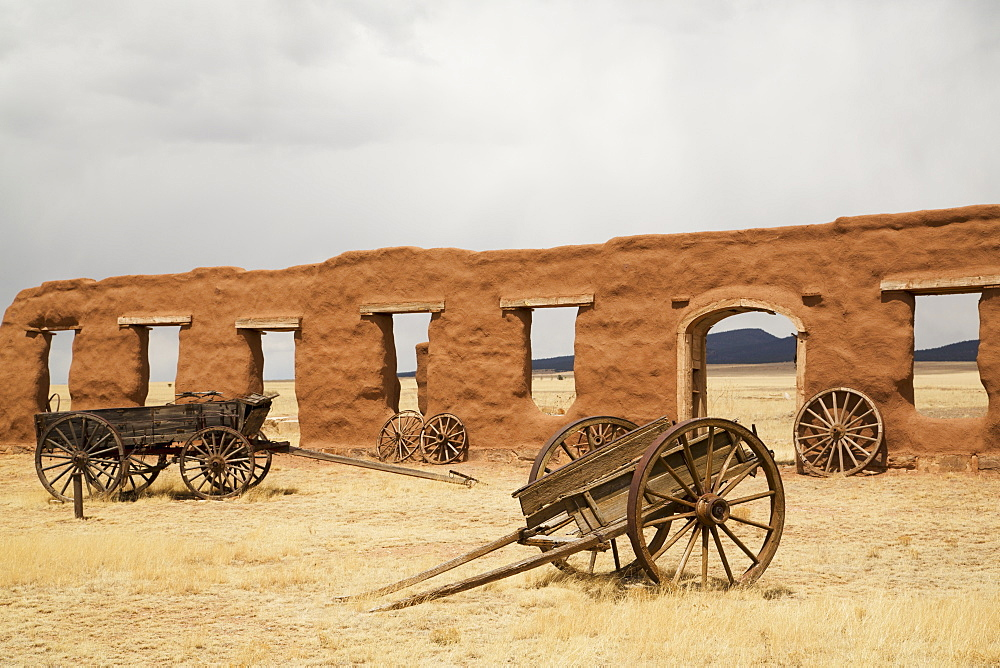 Old Wagons At Fort Union National Monument, , New Mexico, United States Of America