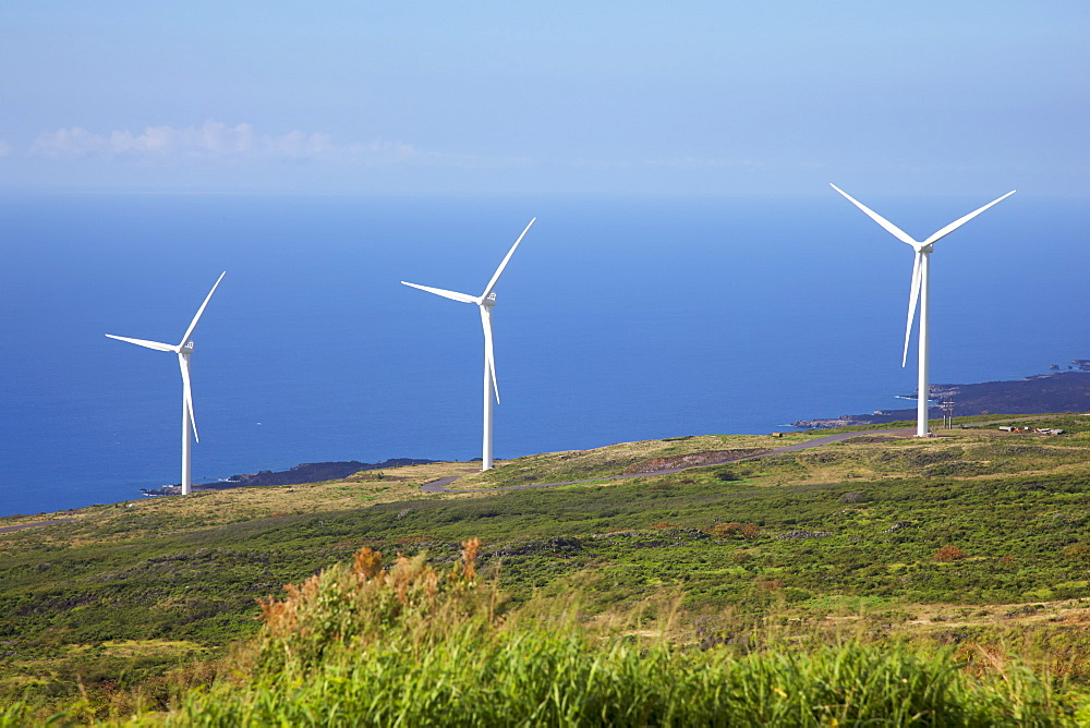 The Auwahi Wind Farm In Kaupo, Maui, Hawaii, United States Of America