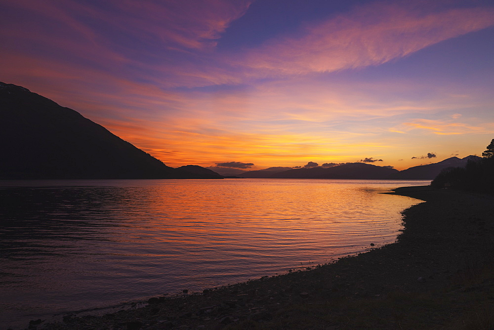 Loch Linnhe At Dusk From Onich, Scotland