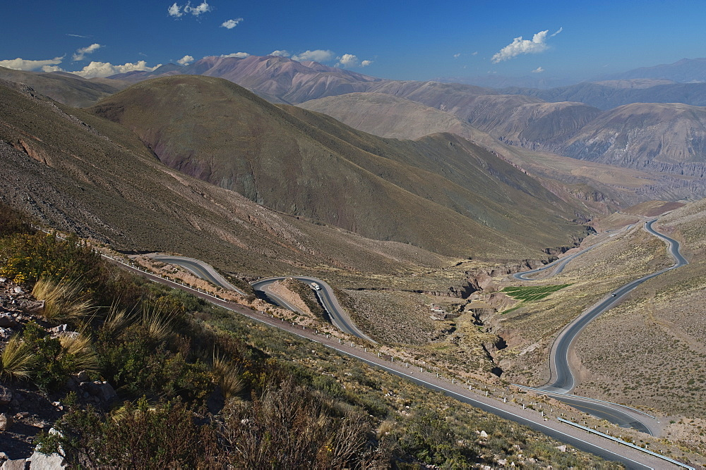 Roads Winding Through A Mountainous Landscape, Cuesta De Lipan, Jujuy Province, Argentina