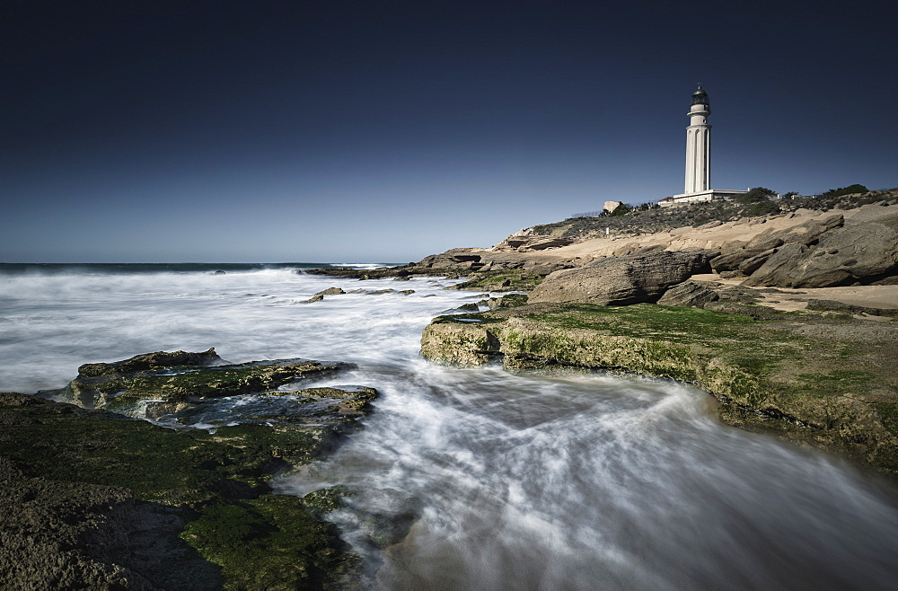 Lighthouse, Cape Trafalgar, Los Canos De Meca, Costa De La Luz, Cadiz, Andalusia, Spain