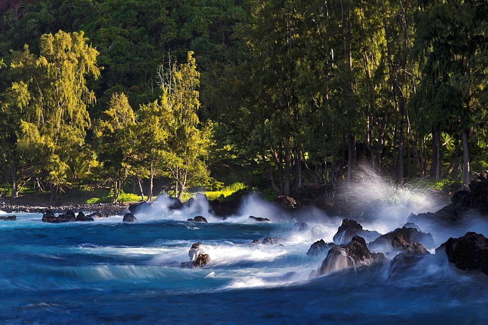 Lapahoehoe Shoreline, Hamakua Coast, Island Of Hawaii, Hawaii, United States Of America
