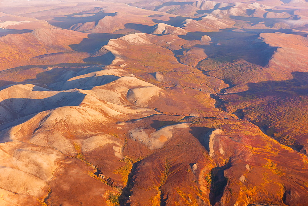 Aerial View Of The Kigluaik Mountains, North Of Nome, Seward Peninsula, Alaska, United States Of America