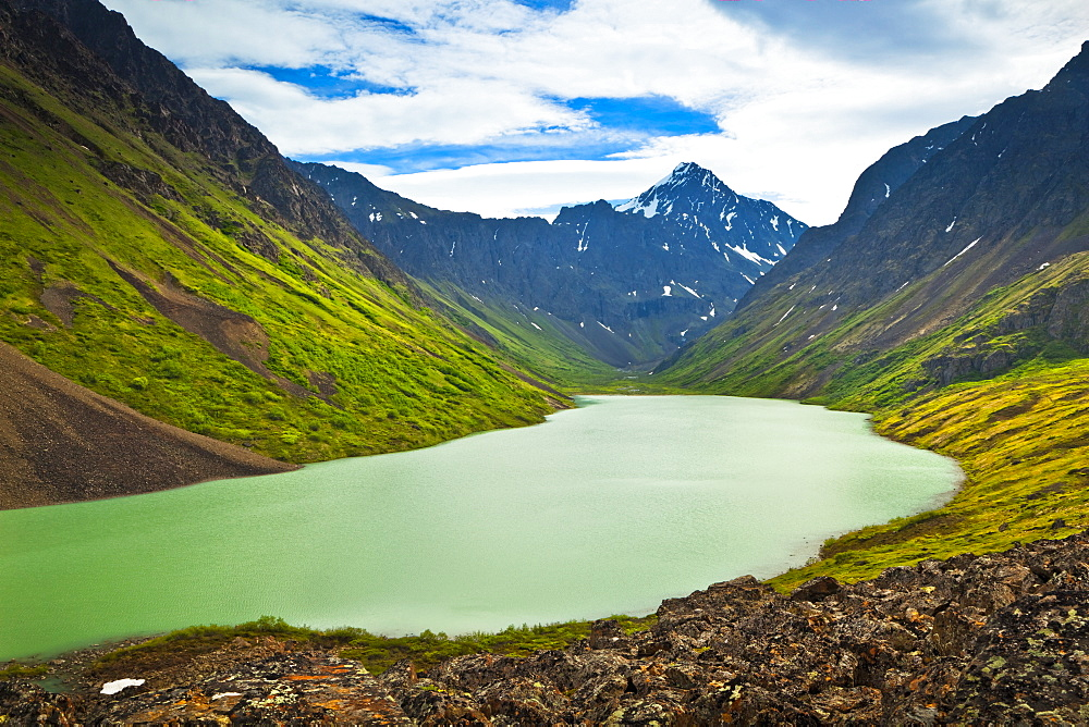 Eagle Peak And Eagle Lake, Chugach State Park, Alaska, United States Of America