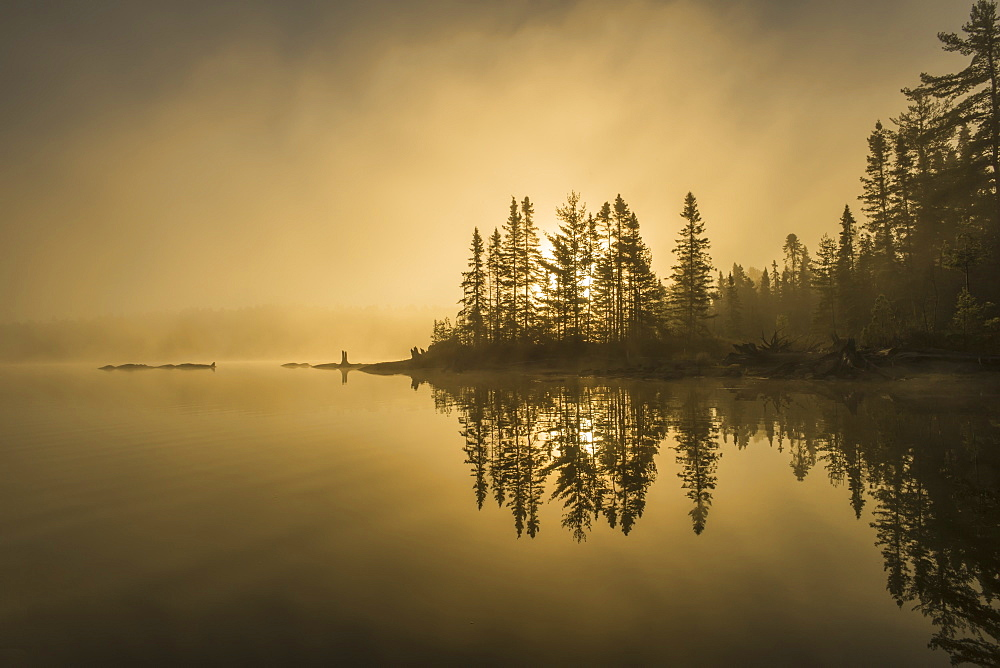 Sunrise Over A Tranquil Lake, Ontario, Canada