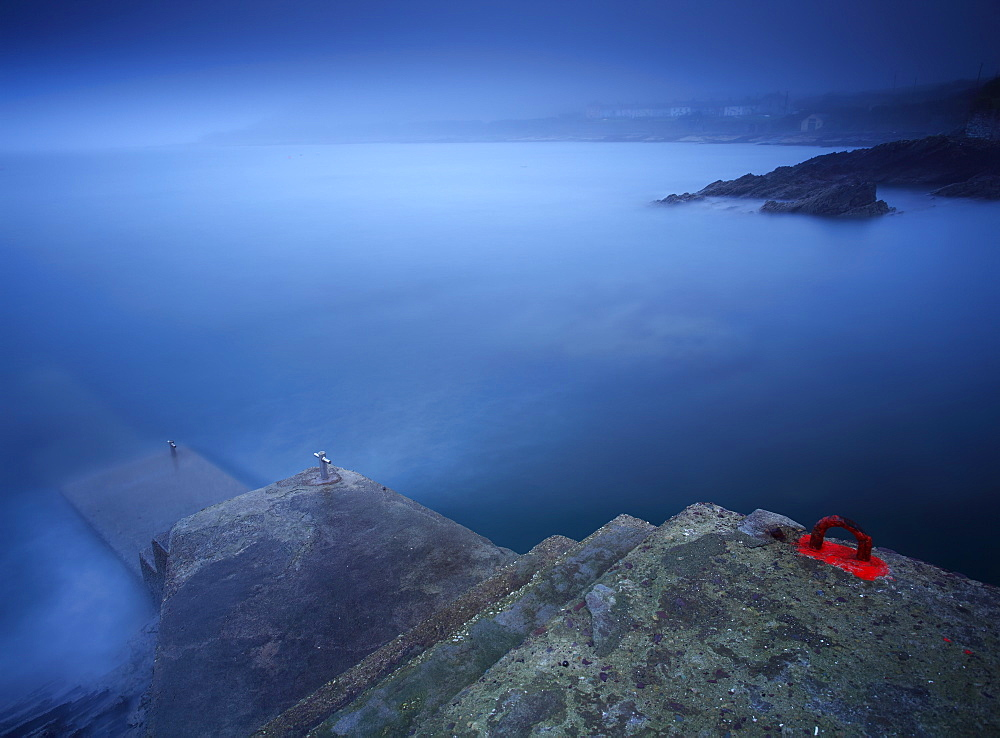Foggy Coastline Around Roches Point In Cork Harbour, County Cork, Ireland