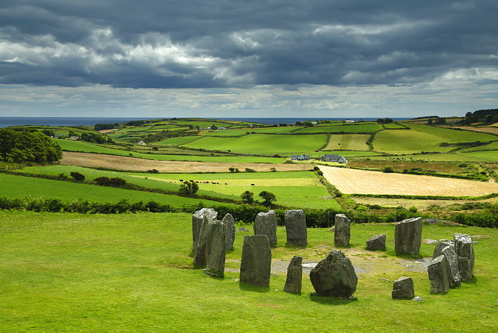 Drombeg Stone Circle Near Glandore On The Wild Atlantic Way, West Cork, County Cork, Ireland